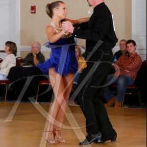 Dresses & Skirts - Blue Fridge Ballroom Latin Competition Dress